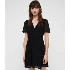 All Saints Women's Lucia Lined Black Dress Size 8